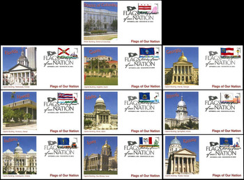 4283 - 4292 / 42c Flags of Our Nation Set of 10 PNC Fleetwood 2008 FDCs