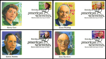 4224 - 4227 / 42c American Scientist Set of 4 Fleetwood 2008 First Day Covers