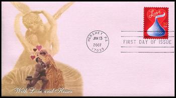 4122 / 39c Love : Hershey's Kiss 2007 Fleetwood FDC