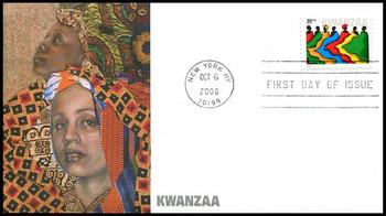 4119 / 39c Kwanzaa : Holiday Celebration Series Fleetwood 2006 FDC