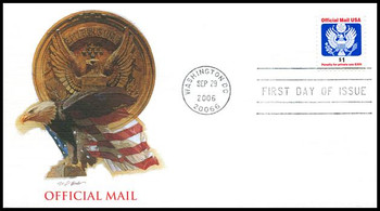 O161 / $1 Eagle Official Mail Fleetwood 2006 FDC