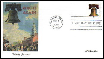 4437 / 44c Forever Liberty ATM Booklet Single Fleetwood 2010 First Day Cover