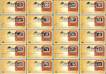 4414 a - t  / 44c Early TV Memories Set of 20 Fleetwood 2009 FDC