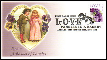 4450 / 44c Pansies in a Basket : Love Stamp Series Fleetwood 2010 First Day Cover