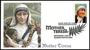 4475 / 44c Mother Teresa Fleetwood 2010 First Day Cover