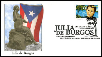 4476 / 44c Julia De Burgos : Literary Arts Series Fleetwood 2010 First Day Cover