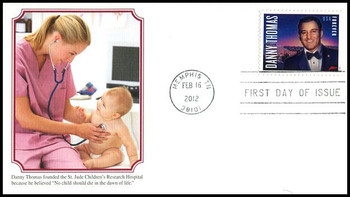 4628 / 45c Danny Thomas : Entertainer 2012 Fleetwood First Day Covers