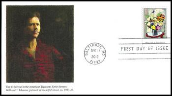 4653 / 45c William H. Johnson : American Treasures Series 2012 Fleetwood FDC