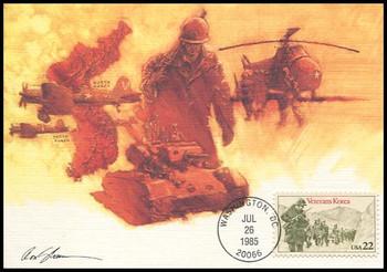 2152 / 22c Korean War Veterans 1985 Fleetwood Maximum Card