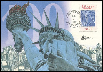 2224 / 22c Statue of Liberty 100th Anniversary 1986 Fleetwood First Day of Issue Maximum Card