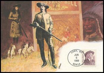 2177 / 15c Buffalo Bill Cody : Great Americans Series 1988 Fleetwood Maximum Card