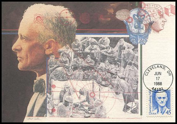 2188 / 45c Dr. Harvey Cushing : Great Americans Series 1988 Fleetwood Maximum Card