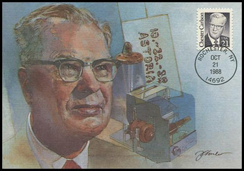 2180 / 21c Chester Carlson : Great Americans Series 1988 Fleetwood Maximum Card