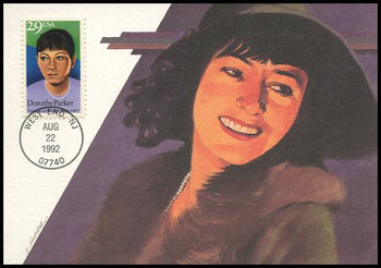 2698 / 29c Dorothy Parker : American Writer 1992 Fleetwood First Day of Issue Maximum Card
