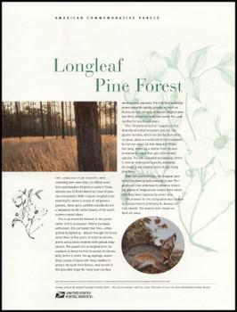 3611 / 34c Longleaf Pine Forest Sheet of 10 ( 2 Panel Set ) 2002 USPS American Commemorative Panel Sealed #652