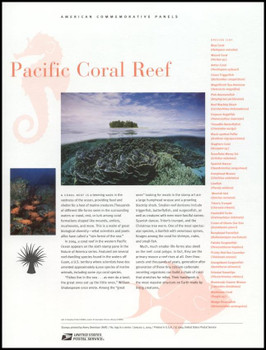 3831 / 37c Pacific Coral Reef Sheet of 10 ( 2 Panel Set ) 2004 USPS American Commemorative Panel Sealed #699