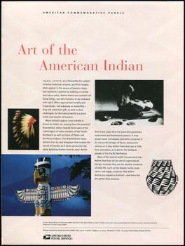 3873 / 37c Art of the American Indian Souvenir Sheet of 10 ( 2 Panel Set ) 2004 USPS American Commemorative Panel Sealed #719
