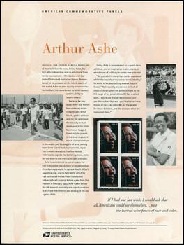 3936 / 37c Arthur Ashe : Tennis Star 2005 USPS American Commemorative Panel Sealed #744
