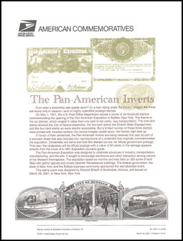 3505 / 1c - 80c Pan-American Inverts Souvenir Sheet of 8 ( 2 Panel Set ) 2001 USPS American Commemorative Panel Sealed #625