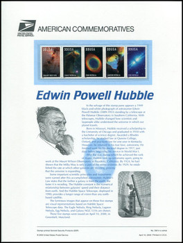 3384 - 3388 / 33c Edwin Powell Hubble / Hubble Space Telescope 2000 USPS American Commemorative Panel Sealed #598