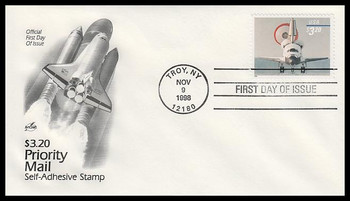 3261 / $3.20 Space Shuttle Landing : Priority Mail Artcraft 1998 First Day Cover