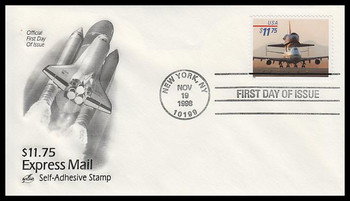 3262 / $11.75 Space Shuttle - 747 Piggyback Express Mail 1998 Artcraft FDC (SMALL SPOT)