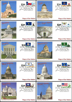 4323 - 4332 / 45c Flags Of Our Nation Set of 10 Fleetwood 2012 FDCs