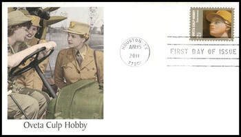 4510 / 84c Oveta Culp Hobby : Distinguished Americans Series 2011 Fleetwood FDC