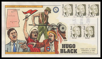 2172 / 5c Hugo L. Black : Politician 1986 Collins Hand Painted First Day Cover