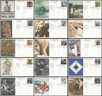3183a-o / 32c Celebrate The Century ( CTC ) 1910s Set of 15 Mystic 1998 First Day Covers