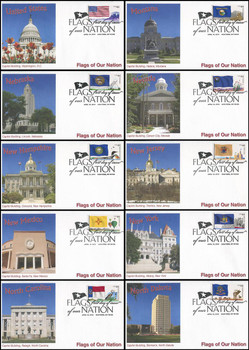 4303 - 4312 / 44c Flag Of Our Nation Set of 10 Fleetwood 2010 FDCs