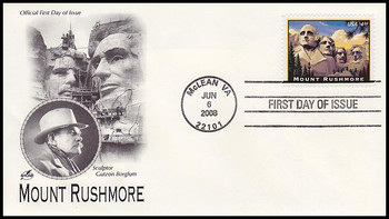 4268 / $4.80  Mount Rushmore Priority Mail Artcraft 2008 FDC