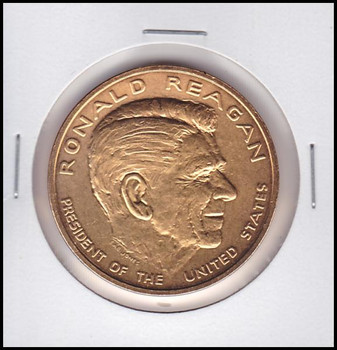 Ronald Reagan U.S. Mint Bronze Presidential Medal Electroplated with 24kt Gold #2