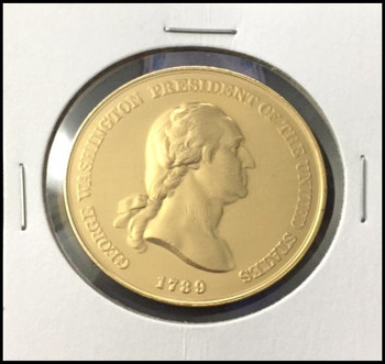 George Washington U.S. Mint Bronze Presidential Medal Electroplated with 24kt Gold #2