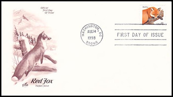 3036 / $1 Red Fox 1998 Artcraft First Day Cover