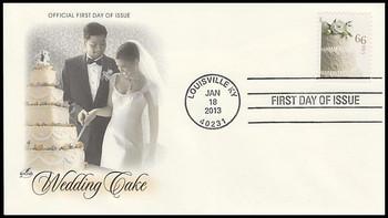4735 / 66c Wedding Cake 2013 Artcraft FDC