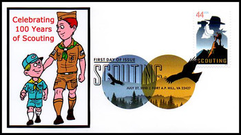 4472 / 44c 100 Years of Scouting : Boy Scouts Digital Color Postmark FDCO Exclusive 2010 FDC