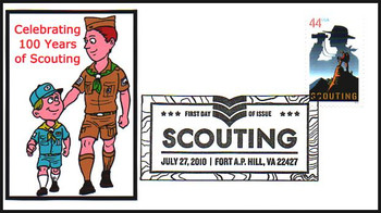 4472 / 100 Years of Scouting - Boy Scouts FDCO Exclusive 2010 First Day Cover