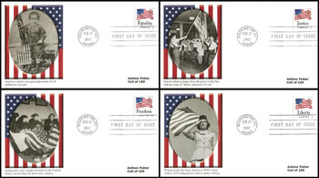 4633 - 4636 / 45c Four Flags : Ashton Potter Coil Set of 4 Fleetwood 2012 FDCs