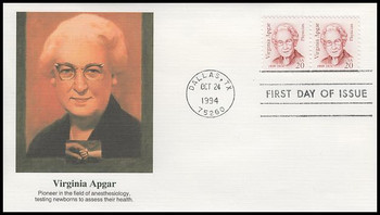 2179 / 20c Virginia Apgar : Great Americans Series 1994 Fleetwood FDC