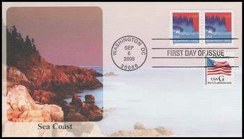 4348 / 5c Sea Coast Non-Denominated Coil Pair Fleetwood 2008 FDC