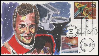 2741 and 3118e / 29c Space Fantasy and 33c Star Trek CTC Dual Issue : Captain Kirk : William Shatner : Wild Horse Cachets FDC