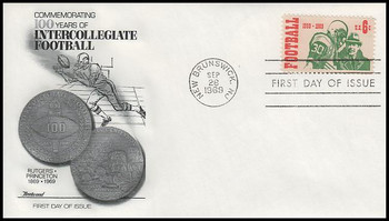 1382 / 6c Intercollegiate Football 1969 Fleetwood First Day Cover