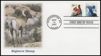 4138 / 17c Bighorn Sheep Fleetwood 2007 FDC