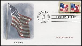 4134 / 41c Non-Denominated US Flag Coil Pair Fleetwood 2007 FDC