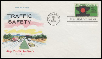 1272 / 5c Traffic Safety 1965 Fluegel First Day Cover