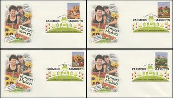 4912 - 4915 / 49c Farmer's Market Digital Color Postmark Set of 4 Artcraft 2014 FDCs