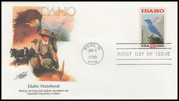 2439 / 25c Idaho Statehood : Statehood Series 1990 Fleetwood First Day Cover