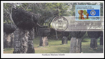 2804 / 29c Commonwealth of the Northern Mariana Islands 1993 Mystic FDC