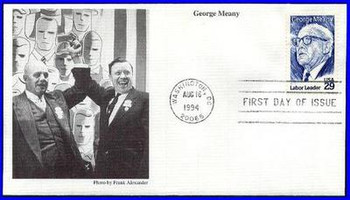 2848 / 29c George Meany : Labor Leader 1994 Mystic First Day Cover